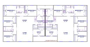 What Is A Duplex House by 4 Bedroom Duplex House Plan J0602 13d Plansource Inc