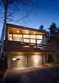 front view of small contemporary house in swiss style design from