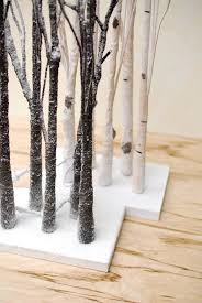 led tabletop 27 aspen birch trees