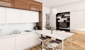 45 sqm modern studio apartment design idea with mezzanine bed plan