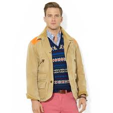 ralph lauren polo hunter cove biswing mohawk jacket in natural for