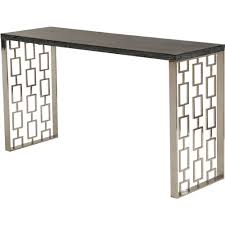 armen living lcskcnblmt skyline console table w charcoal top