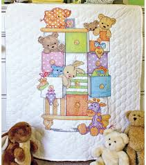 dimensions baby hugs baby drawers quilt sted cross stitch kit