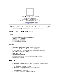 Sample Resume Letter Format by Format For A Resume Example A Clear And Well Laid Out Finance