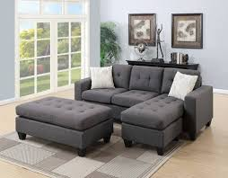 Sectional Sofa Set Blue Gray Sectional Sofa Set By Poundex