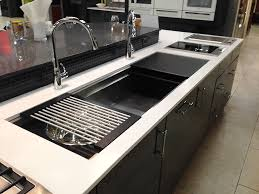 hahn stainless steel sink galley workstation stainless kitchen sink with black cutting boards