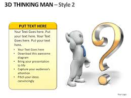 3d thinking man style 2 powerpoint presentation templates