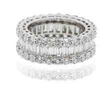 baguette diamond band 18k white gold 5 70ctw baguette diamond eternity band ring