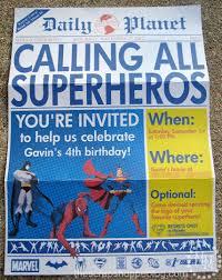 Superhero Invitation Card Superhero Newspaper Invitation Template Best Template Examples
