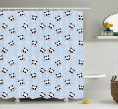 Childrens Shower Curtains by Kids Shower Curtain Funny Cartoon Panda Baby Bathroom Decor Ebay