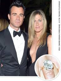 Jennifer Aniston Wedding Ring by Biggest Celebrity Engagement Rings Justin Theroux Jennifer