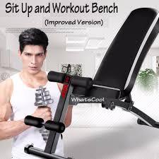 sit up workout bench improved version lazada singapore