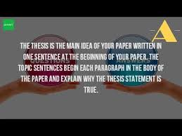 what is the thesis statement what is topic sentence and thesis statement youtube