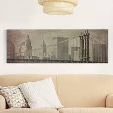 Esszimmer New York Leinwandbild Vintage New York City Panorama Quer