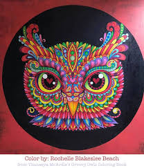 groovy owls coloring book gallery facebook