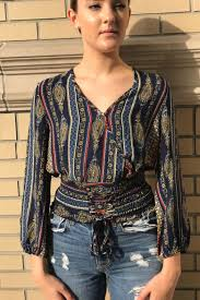 corset blouse michel printed corset blouse from york city by dor l dor