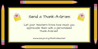 send a gram aacps on send your fav teachers a thank a gram and enter