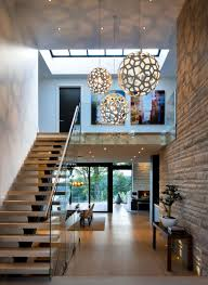 entrance hallway in elegant modern house in west vancouver canada