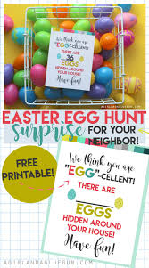 surprise your neighbors or kids with an easter egg hunt free