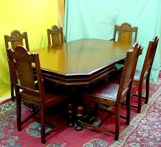 Oak Dining Room Table And 6 Chairs Oak Antique Dining Room Table And 6 Chairs Sold For The