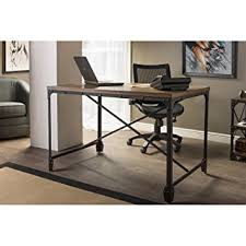 Home Office Wood Desk Wholesale Interiors Baxton Studio Greyson Vintage