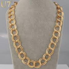 big chain necklace fashion images 2018 18k real gold plated big size 23 mm chunky link chain jpg