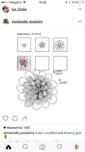 zentangle pattern trio zentangle pattern trio by zenjoy zentangle pinterest tangled
