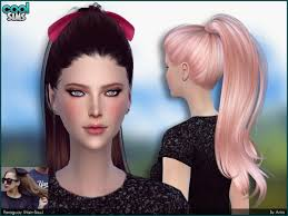 the sims 4 cc hair ponytail cool sims paraguay by alesso at tsr sims 4 nexus