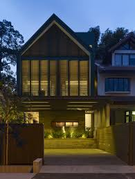 Modern House Roof Design by Sofas Among Wooden Coffe Table Under Yhouse Ongong Also Sliding