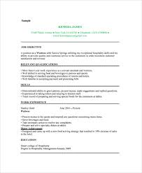 Example Resume For Waitress by Serving Resume Examples Host Resume Server Assistanthost Resume