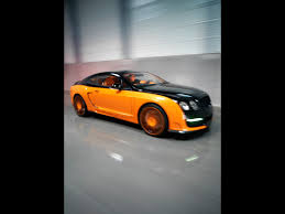 bentley orange 2008 le mansory bentley continental gt black and orange side