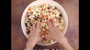 how to make corny candy popcorn balls myrecipes youtube