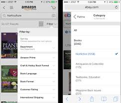 mobile faceted search with a tray new and improved design pattern
