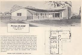 Floor Plans For 2 Story Homes by Vintage House Plans Modern 20 Vintage House Plans 1960s Efficient