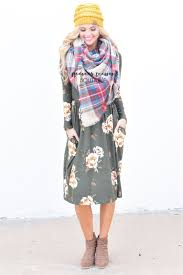 olive floral sweater dress best place to buy modest dress online