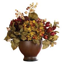 autumn hydrangea w round vase drygulch home decor