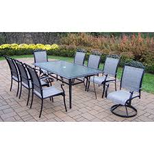 Patio Dining Chairs by Oakland Living Cascade 9 Piece Sling Patio Dining Set Walmart Com