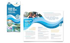 swimming pool cleaning service brochure template word u0026 publisher