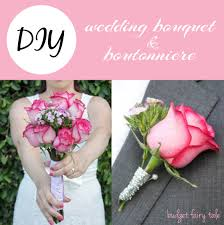 how to make wedding bouquet diy wedding bouquet and boutonniere this fairy tale