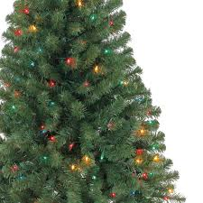 4 ft pre lit hillside pine artificial tree multicolor