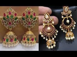 kerala earrings 22ct gold jhumka kerala designs jhumka designs in gold