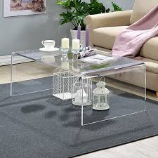 cb2 acrylic nesting tables clear acrylic coffee table free shipping today overstock com modern