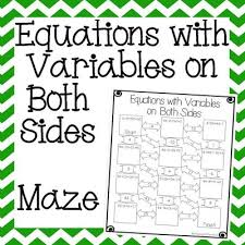 equations with variables on both sides maze