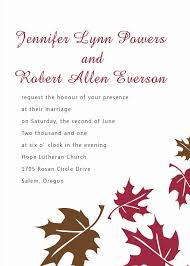 fall wedding invitations samples for autumn wedding ideas part 9