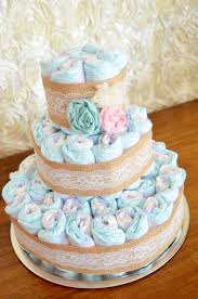 Diaper Cake Directions Shabby Chic Baby Shower Vintage Lace And Burlap Diaper Cake