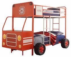 Fire Truck Bunk Bed Amazon Com Homelegance B2023 1 Twin Twin Fire Truck Metal Bunk