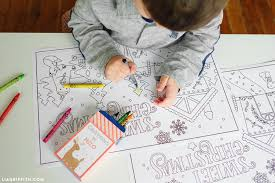 coloring placemats kid s coloring placemats for christmas lia griffith