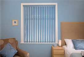 beautiful modern blue fabric vertical blinds design for window