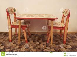 small table with two chairs small wooden table and two chairs stock image image of isolated