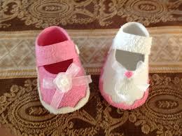 recuerdos para baby shower zapatitos manualidades de lia